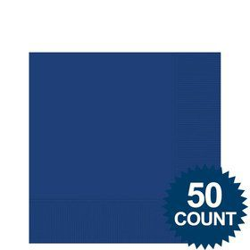 Blue 2-Ply Beverage Napkins, 50ct.