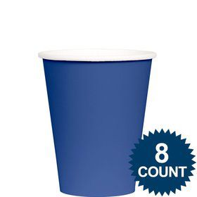 Blue 9 oz. Paper Cup, 8ct.