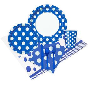 Blue and White Dots Party Pack