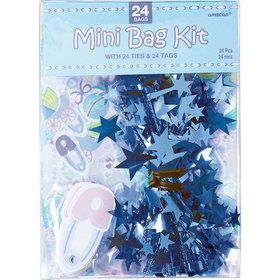 Blue Baby Shower Favor Bag Kit (24 Count)
