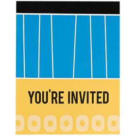 Blue, Black and Yellow Invitations (8)