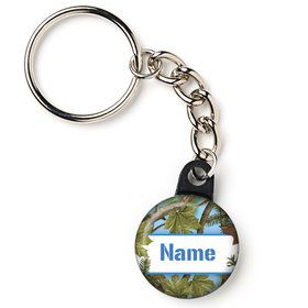 "Blue Camo Personalized 1"" Mini Key Chain (Each)"