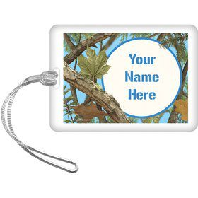 Blue Camo Personalized Bag Tag (Each)