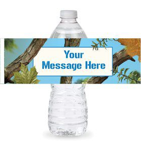 Blue Camo Personalized Bottle Label (Sheet of 4)