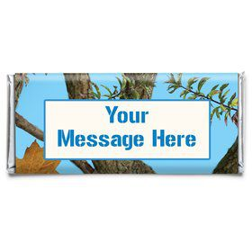 Blue Camo Personalized Candy Bar Wrapper (Each)
