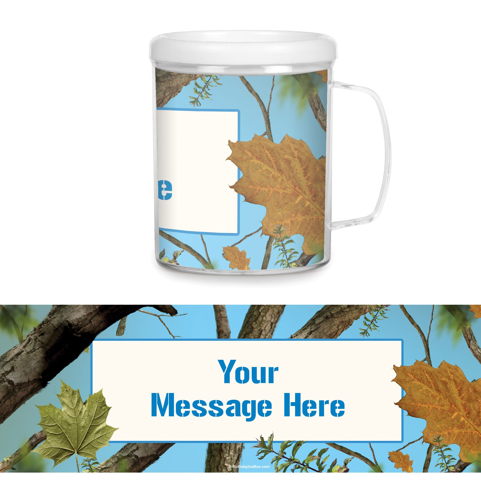 Blue Camo Personalized Favor Mug (Each) - Party Supplies BB1462CUP