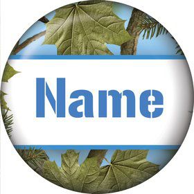 Blue Camo Personalized Mini Magnet (Each)