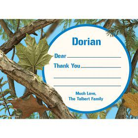 Blue Camo Personalized Thank You (Each)