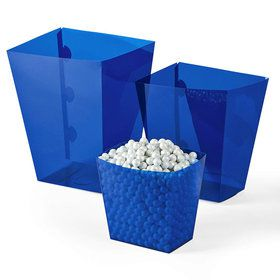 Blue Candy Buffet Containers (6 Count)