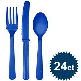Navy Cutlery Set (24ct)