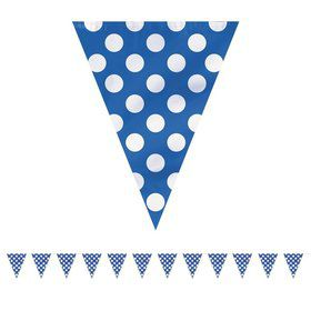 Blue Dots 12' Flag Banner Decoration (Each)