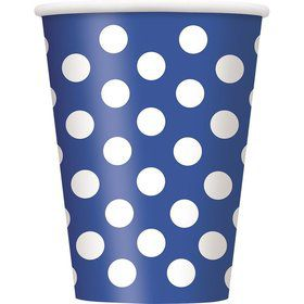 Blue Dots 12oz Cups (6 Pack)