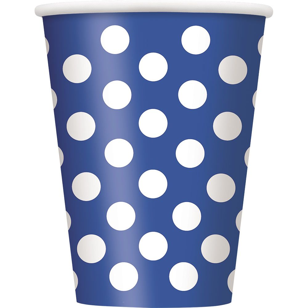 Blue Dots 12Oz Cups (6 Pack) BB37506