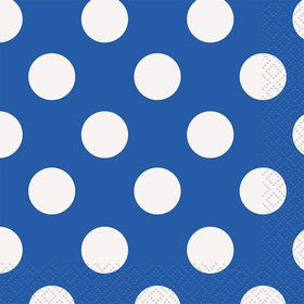 Blue Dots Beverage Napkins (16 Count)