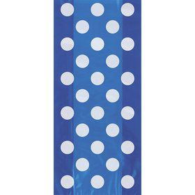 Blue Dots Cello Favor Bags (20 Pack)