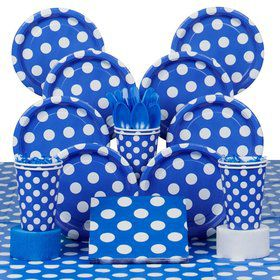 Blue Dots Deluxe Tableware Kit Serves 8
