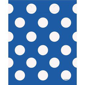 Blue Dots Loot Bags (8 Count)