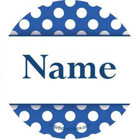 Blue Dots Personalized Mini Stickers (Sheet of 20)