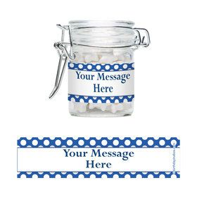 Blue Dots Personalized Swing Top Apothecary Jars (12 ct)