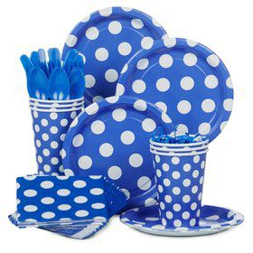 Blue Dots Standard Tableware Kit Serves 8