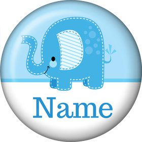 Blue Elephant Personalized Mini Magnet (Each)
