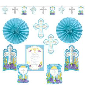 Blue First Communion Decorating Kit (10 Pieces)