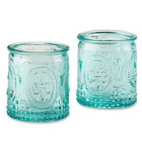 Blue Glass Tealight Holder (Set of 4)