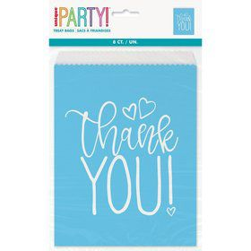 Blue Hearts Baby Shower Favor Bags (8)
