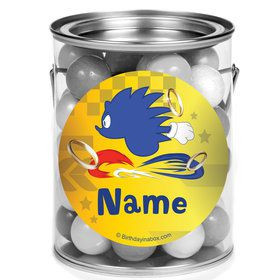 Blue Hedgehog Personalized Mini Paint Cans (12 Count)