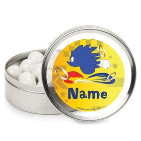 Blue Hedgehog Personalized Mint Tins (12 Pack)