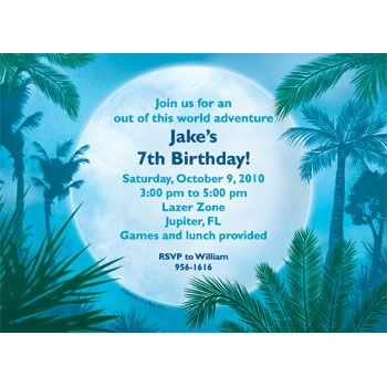 Blue Planet Personalized Invitation (each) - Party Supplies BB017184