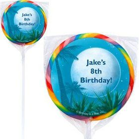 Blue Planet Personalized Lollipops (pack of 12)