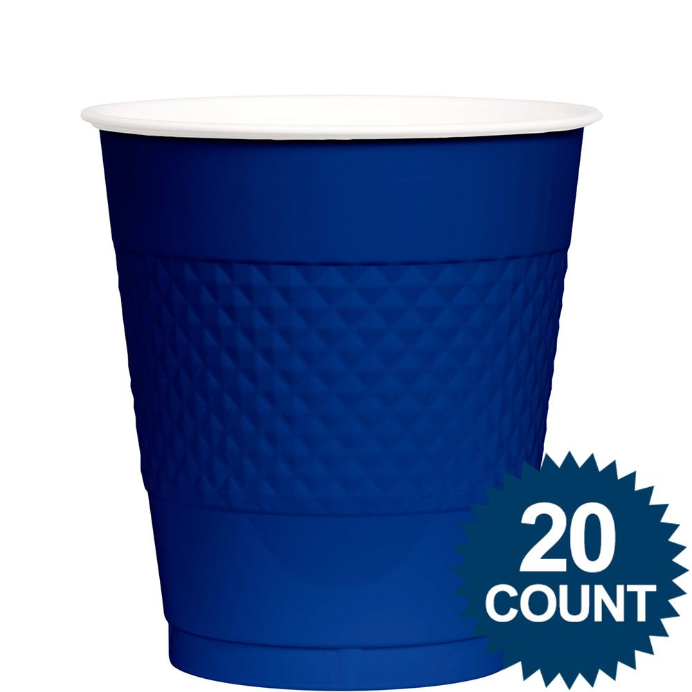 Blue Plastic Cups, 12 Oz. BB100311