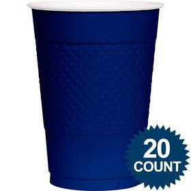 Blue Plastic Cups, 16 Oz. (20 Ct.)
