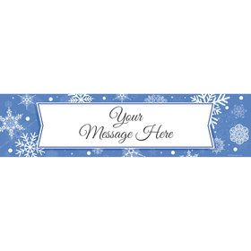 Blue Snowflake Personalized Banner (Each)
