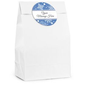 Blue Snowflake Personalized Favor Bag (12 Pack)