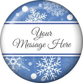 Blue Snowflake Personalized Magnet (Each)