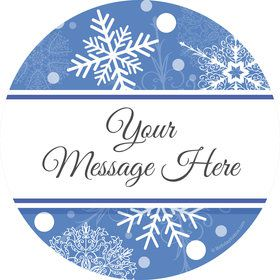 Blue Snowflake Personalized Stickers (Sheet of 12)