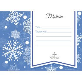 Blue Snowflake Personalized Thank You (Each)