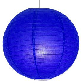 "Blue Solid Color 10"" Paper Lantern Decorations (Each)"