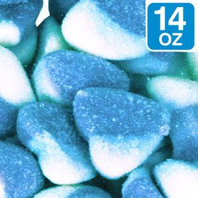 Blue Sour Hearts 14 oz Bag (Each)