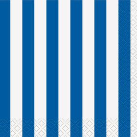 Blue Stripe Beverage Napkins (16 Pack)