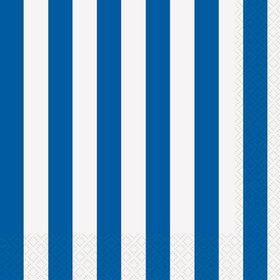 Blue Stripe Luncheon Napkins (16 Pack)