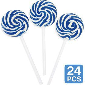 "Blue Swirl 2"" Lollipops (24 Pack)"