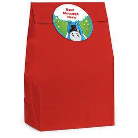 Blue Tank Engine Personalized Favor Bag (12 Pack)
