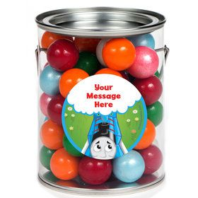 Blue Tank Engine Personalized Paint Cans (6 Pack)