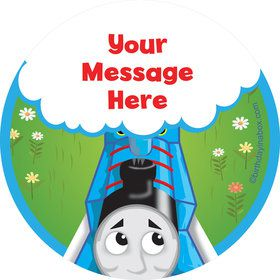 Blue Tank Engine Personalized Stickers (Sheet of 12)