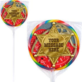 Blue Western Personalized Lollipops (12 Pack)