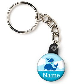 "Blue Whale Personalized 1"" Mini Key Chain (Each)"