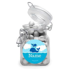 Blue Whale Personalized Glass Apothecary Jars (10 Count)